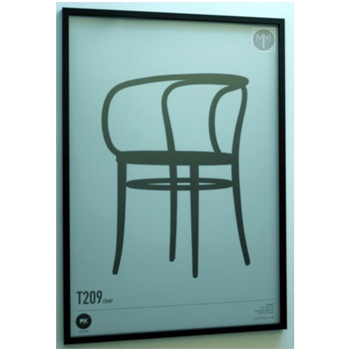 T209-Chair framed artwork