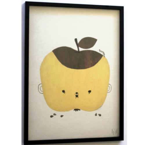 Yellow-Apple framed artwork